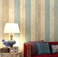 natur holz mittelmeer streifen vlies schlafzimmer tapete 3d wandverkleidung rolle schalldichte moderne kinder wandpapier