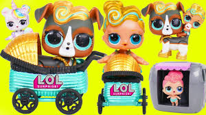 Custom LOL Surprise Doll Visits Lil Luxe Baby Pets In Stroller
