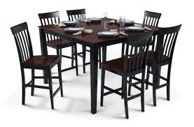 bob s furniture pub table with 18 leaf 6 counter chairs