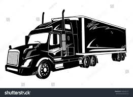 Icon Truck Semi Truck Vector Illustration Stock Vector (Royalty Free ...