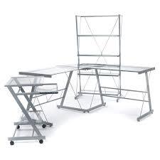 bureau d angle verre bureau d angle en verre trempé gris alinea 150 0x74 0x150