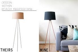 Curved Floor Lamp Copper by Sarah M Dorsey Designs Knocktoberfest Tripod Floor Lamp