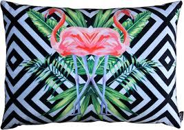 casa padrino luxus deko kissen florida flamingos mehrfarbig 35 x 55 cm feinster samtstoff dekoratives wohnzimmer kissen