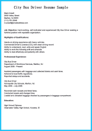 Stunning Bus Driver Resume To Gain The Serious Job