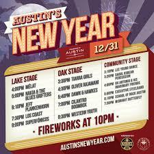 Bands Schedule Austins New Year