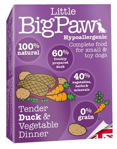 Little Big Paw Dog Food - Tender Duck and Vegetables Dinner, 150g