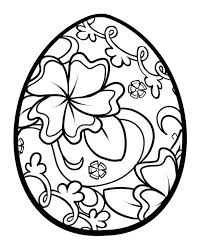 Egg Coloring Pages Easter Printable Toddlers Religious Bunny