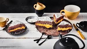schoko kürbis kuchen mit kokosraspeln