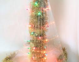 Gold Christmas Tree Tinsel Icicles by Vintage Tinsel Etsy