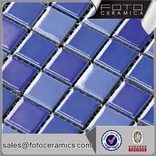 blue glazed swimming ceramic mosaic easy for pool tile