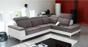canapé cuir mobilier de salon d angle fixe mobilier de