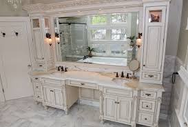 amazing double sink vanity with makeup table home website in