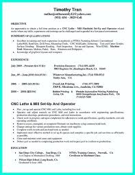 Resume Examples Machinist Machine Operator Resumes Cnc Objective