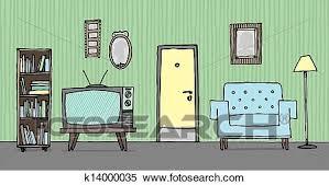 kühles altmodisch wohnzimmer frü hintergrund