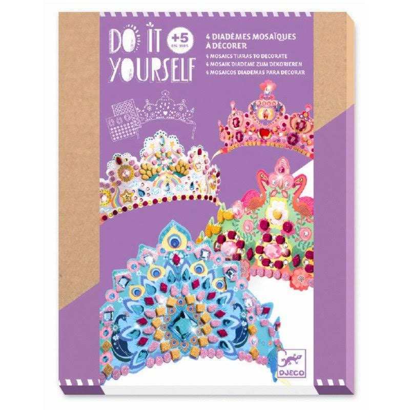 Djeco Do It Yourself 4 Mosaic Tiaras to Decorate Kit