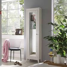 weiß lasierter hochschrank fürs bad mit spiegel tür aus