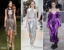 Fashion Spring Summer 2017 Trends Metallic Fabrics
