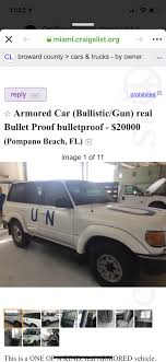 100 Miami Craigslist Cars And Trucks By Owner One Of A Kind Land Cruiser Armored United Nations Transport