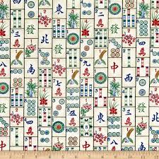 Timeless Treasures Mahjong Tiles Mahjong Discount Designer