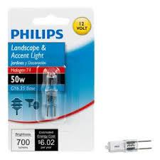 philips 50 watt halogen t4 120 volt capsule dimmable light bulb