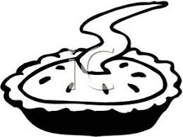 Baking Clipart Black And White Black And White Steaming Pie
