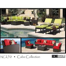 northcape patio furniture cabo cabo wicker sectional set by cape international