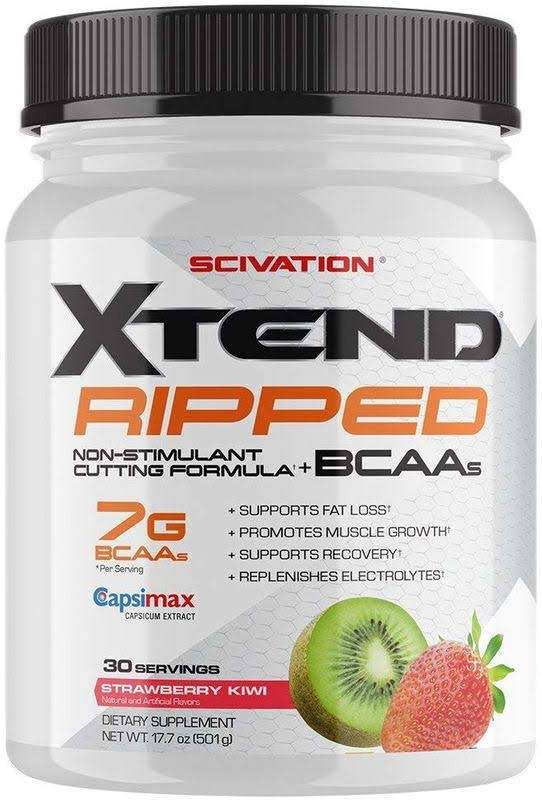 Xtend Ripped Strawberry Kiwi 30 Servings - Amino Acids & BCAAs Scivation