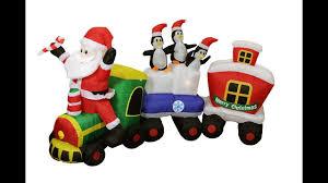 Christmas Inflatables Decorations Display Santa Claus Snowman