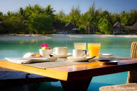 breakfast in paradise le meridien hotel bora bora