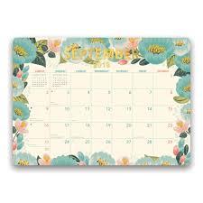 Decorative Desk Blotter Calendars by Bold Blossoms 2018 Blotter Calendars Com