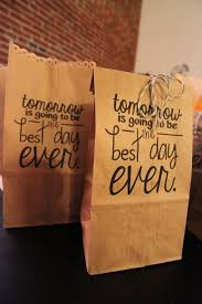 Printable Design For Brown Paper Bag Bridesmaids Groomsmen Gift