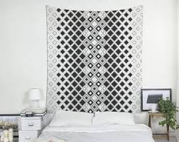 Black And White Tapestry Geometric Wall Art Modern Boho Tapestries Large