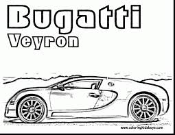 Impressive Bugatti Veyron Coloring Page Printable With Pages And