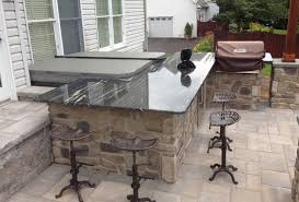 Stone Patio Bar Ideas Pics by Outdoor Bar Stone Vernier Granite Countertops Installed On An