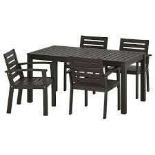 KLÖVEN Table+4 Chairs W Armrests, Outdoor, Black-brown Alexia 5 Pcs Contemporary Set 4 Black Chairs And White Modern Table Inspire 5piece Greywhite Kids Table And Chair Set Garden Trading Rive Droite Bistro Chairs Shutter Blue Costway Piece Ding Wood Metal Kitchen Breakfast Fniture Black Rakutencom Black Table Chairs Dorel Living Devyn 3piece Faux Marble Pub Ikea In Camberwell Ldon Gumtree Brooklyn Oak Leather Bro103 Warmiehomy Glass 6 With 2375 Square Inoutdoor 2 Meco Sudden Comfort Deluxe Double Padded Back Card Courtyard Cosco Foldinhalf Folding