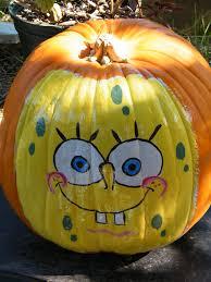 Spongebob Pumpkin Carving by Hand Painted Pumpkins Jazzi U0027s Flower Center