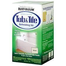 Bath Resurfacing Kits Diy rust oleum specialty 1 qt almond tub and tile refinishing kit