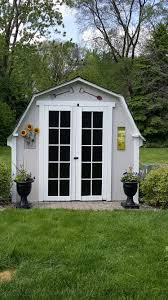 Tuff Shed Home Depot Display by Completed French Door Shed Makeover Very Simple Just Painted