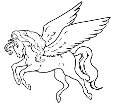 Great Flying Unicorn Coloring Pages Awesome Color Design Ideas