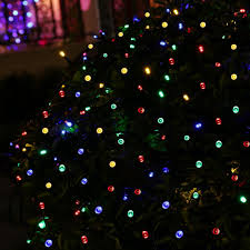 Christmas Tree Lights Amazon by Solar String Lights Outdoor 72 Ft 200 Led Waterproof Fairy
