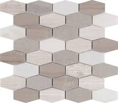 msi bellagio blend elongated marble mosaic tile in gray reviews