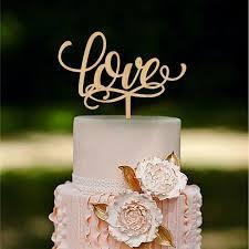 Romantic LOVE Rustic Wedding Cake Toppers Vintage Beautiful Wood