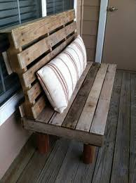 Pallet Bench With Pillow