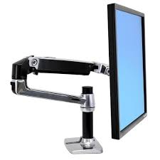 ergotron lx dual direct monitor arm white desk mount dell