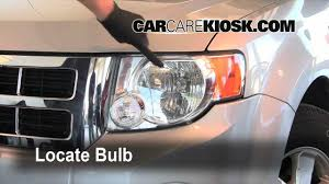2008 ford escape headlight turn signal brights bulb replacement