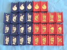 1961 Stratego Red Blue Replacement Parts Pieces 5 6 7 8 9 Bombs