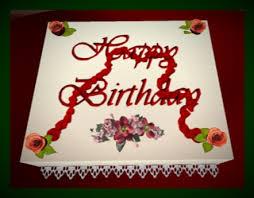 Happy Birthday Cake red roses