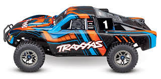 100 Monster Truck Decals TRA6844 Body Slash 4X4 Orange And Blue Painted Decals Applied