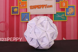 A Craft You Can Do For Halloween Origami Ball