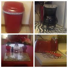 Zebra Print And Red Kitchen Doing My In Animal Decor Accessories Full Size